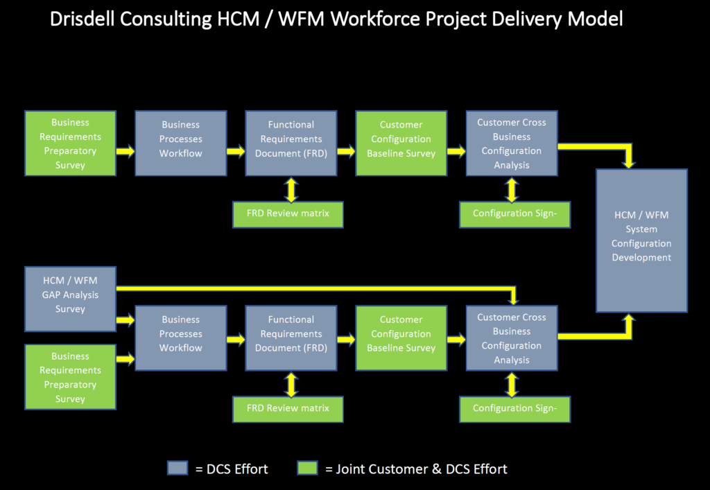 Drisdell Consulting HCM/WFM Workforce Project Delivery Model
